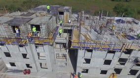 Budynek budowa w Panama, budowniczych pracować zbiory wideo