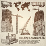 Budynek budowy nakreślenie ilustracja wektor