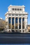 Budynek Cervantes instytut przy Alcala ulicą w mieście Madryt, Hiszpania zdjęcie royalty free