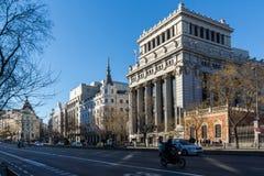 Budynek Cervantes instytut przy Alcala ulicą w mieście Madryt, Hiszpania obraz royalty free