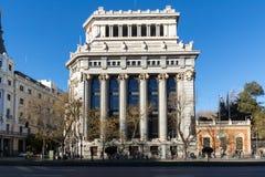 Budynek Cervantes instytut przy Alcala ulicą w mieście Madryt, Hiszpania zdjęcia stock