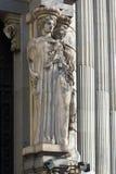 Budynek Cervantes instytut przy Alcala ulicą w mieście Madryt, Hiszpania obrazy royalty free