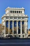 Budynek Cervantes instytut przy Alcala ulicą w mieście Madryt, Hiszpania fotografia royalty free