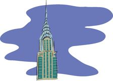 budynek Chryslera ilustracja wektor