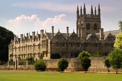 budynek college university oksfordzie Zdjęcia Stock