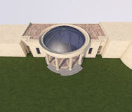 budynek 3 d Obrazy Royalty Free
