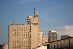 Budynek fasada projektująca w sowieckim modernizmu stylu fotografia royalty free
