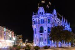 Budynek fasady światła festiwal Chartres zdjęcia stock