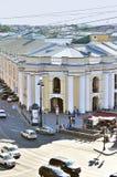 Budynek Gostiny Dvor na Nevsky perspektywie - panorama od wzrosta Obraz Stock