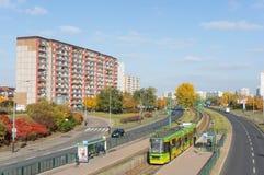 Budynek i drogi Zdjęcia Stock