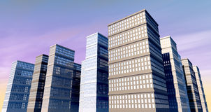 Budynek I Skyscapers obraz stock