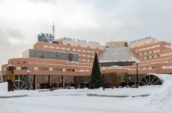 Budynek jest atrium pałac hotelem w Yekaterinburg w wint Obraz Stock