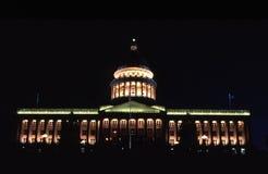 budynek kapitolu nocy stanu Utah Zdjęcie Royalty Free