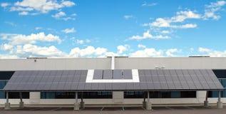 budynek kasetonuje słonecznego Zdjęcie Royalty Free