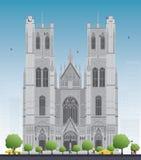 Budynek katedra St Michael i St Gudula w cen Obraz Stock