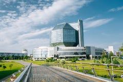 Budynek Krajowa biblioteka Białoruś w Minsk Sławny symbol Obraz Stock