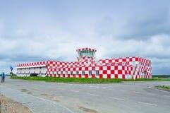 Budynek lota ratuneku i nagłego wypadku serwis pomocy Pulkovo lotnisko międzynarodowe Fotografia Stock