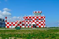 Budynek lota ratuneku i nagłego wypadku serwis pomocy Pulkovo lotnisko międzynarodowe Obraz Royalty Free