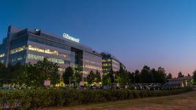 Budynek Microsoft Office na Czerwu 1, 2014 w Moskwa zdjęcia royalty free