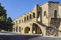 Budynek miejski galeria sztuki w Starym miasteczku Rhodes, Grecja fotografia stock
