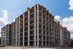 Budynek mieszkaniowy w budowie Obraz Stock