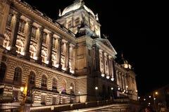 Budynek muzeum narodowe w Praga zdjęcie royalty free