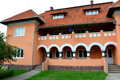 Budynek muzeum Ulpia Traiana Augusta Dacica Sarmizegetusa Zdjęcia Royalty Free