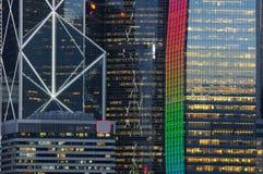 budynek nocy scena jednostek gospodarczych Obrazy Royalty Free