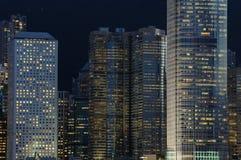 budynek nocy scena jednostek gospodarczych Fotografia Royalty Free