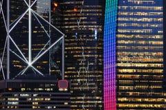 budynek nocy scena jednostek gospodarczych Obrazy Stock
