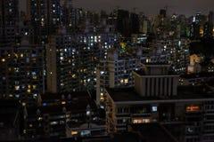 Budynek nocy widok Obrazy Royalty Free