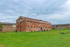 Budynek ` ` Nowi Więźniarscy 1880s w fortecy Oreshek Obraz Stock