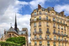 budynek Paniusia De Notre Paris notre Obraz Stock
