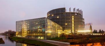 Budynek Parlament Europejski w Strasburg Zdjęcia Royalty Free