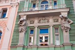 Budynek poprzedni volga Commercial Bank Obraz Royalty Free