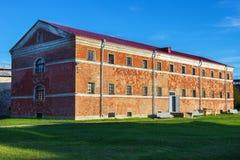 Budynek poprzedni więzienie Shlisselburg Obrazy Stock