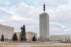 Budynek projekt organizacje z zabytkiem Lenin w Arkhangelsk, Rosja Obrazy Stock