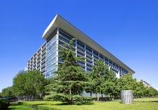 Budynek przemysłowy i bank komercyjny porcelana zdjęcia royalty free