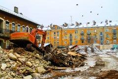 Budynek rozbiórka - Nowa urbanistyka Obraz Stock