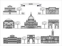 Budynek Rzym ilustracja wektor