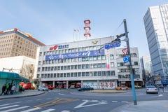 Budynek Seul Jongno posterunek straży pożarnej w Ro okręgu fotografia stock