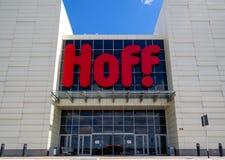 Budynek sklepu ` Hoff ` w centrum handlowego ` absolwenta ` Zdjęcia Stock