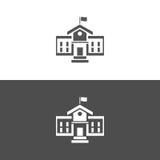 Budynek szkoły ikona Obrazy Stock