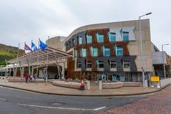 Budynek Szkocki parlament w Edynburg, UK Obrazy Stock