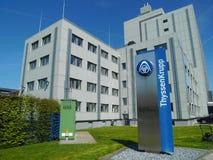Budynek Thyssen-Krupp rozwiązania AG, Beckum, Niemcy Fotografia Stock