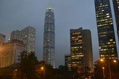 Budynek VCentral w Hong Kong obrazy royalty free