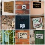 Budynek własności prywatnej wejście Fotografia Stock