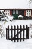 Budynek w Ahrenshoop w zima czasie (Niemcy) Obrazy Stock