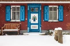 Budynek w Ahrenshoop w zima czasie (Niemcy) Fotografia Stock