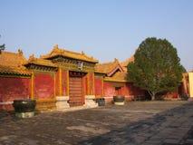 Budynek w niedozwolonym mieście Pekin miasto, Chiny 24th Octob Zdjęcia Stock